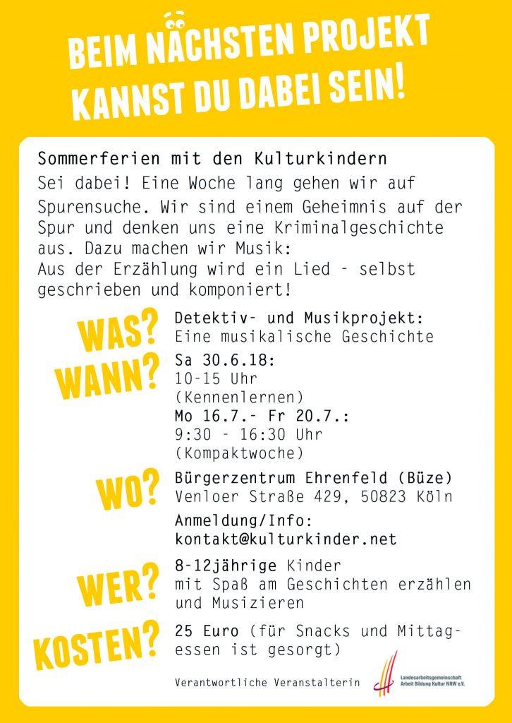 Flyer Musikalische Geschichte