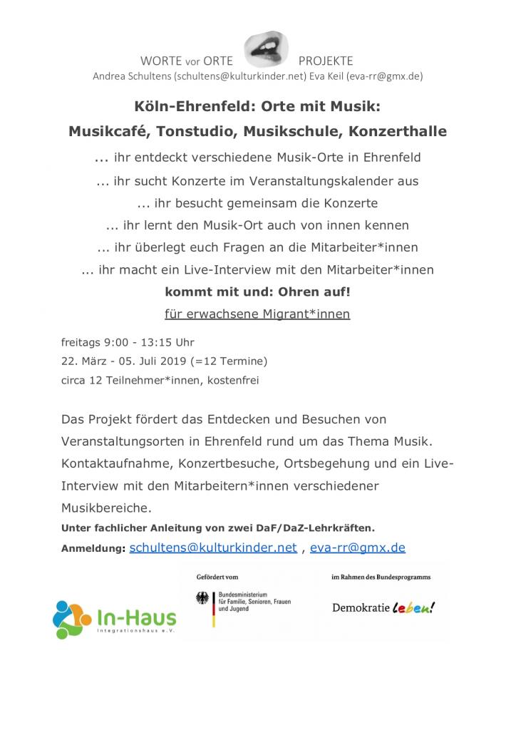 Musikorte in Ehrenfeld 2019
